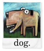 Dog Poster Fleece Blanket