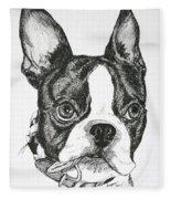 Dog Tags Fleece Blanket