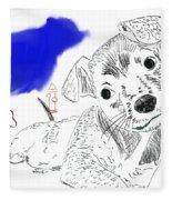 Doggie Dreams Fleece Blanket