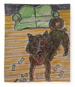 Doggy Snack Time Fleece Blanket