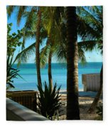 Dog's Beach Key West Fl Fleece Blanket