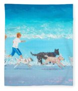 Dogs Day Out Fleece Blanket