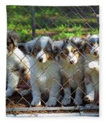 Dogs. Let Us Out #2 Fleece Blanket