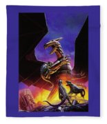 dogs of the future Keith Parkinson Fleece Blanket