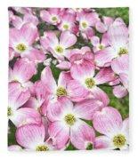 Dogwood Beauty Fleece Blanket