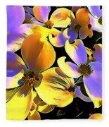 Dogwood Blossoms Fleece Blanket