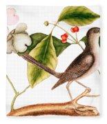 Dogwood  Cornus Florida, And Mocking Bird  Fleece Blanket