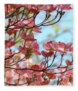 Dogwood Flowering Trees Pink Dogwood Flowers Baslee Troutman Fleece Blanket