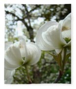 Dogwood Flowers White Dogwood Trees Blossoming 8 Art Prints Baslee Troutman Fleece Blanket