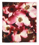 Dogwood Harmony Fleece Blanket