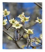 Dogwood In Bloom Fleece Blanket