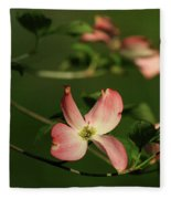 Dogwood In Pink Fleece Blanket
