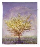 Dogwood In The Lavender Mist Fleece Blanket