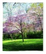 Dogwood Spring Fleece Blanket