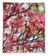 Dogwood Tree Landscape Art Prints Blue Sky Baslee Troutman Fleece Blanket