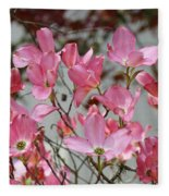 Dogwood Trees Flower Blossoms Art Baslee Troutman Fleece Blanket