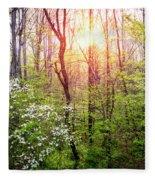 Dogwoods In The Forest Fleece Blanket