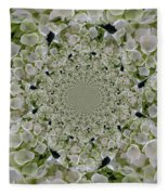 Doily Of Flowers Fleece Blanket