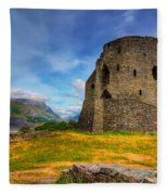 Dolbadarn Castle  Fleece Blanket