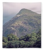 Dolbadarn Castle Close To Llanberis Pass Fleece Blanket