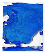 Dolphin World Map Fleece Blanket