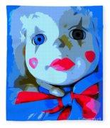 Doll In Blue Fleece Blanket