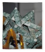 Dollar Origami Fleece Blanket