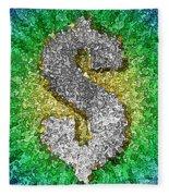 Dollar Sign Pop Art Fleece Blanket