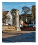 Dollar Town In Scotland Fleece Blanket