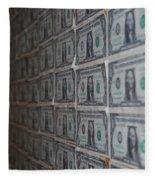 Dollars Fleece Blanket
