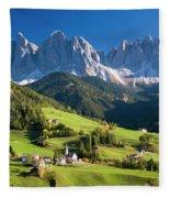 Dolomites, Italy #3 Fleece Blanket