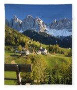 Dolomites View Fleece Blanket