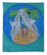 Dolphin Circle Fleece Blanket