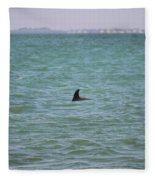 Dolphin Makes An Appearance Fleece Blanket