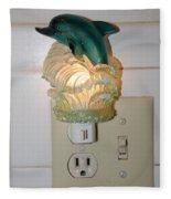 Dolphin Night Light Fleece Blanket