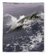 Runnin' Dolphin  Fleece Blanket