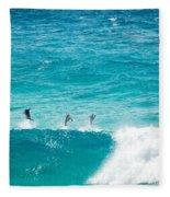 Dolphins Jumping Fleece Blanket
