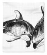 Dolphins Togeter Fleece Blanket