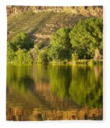 Dome Lake Sunset Fleece Blanket