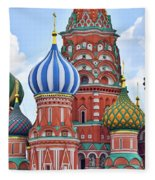 Domes Of St. Basil Fleece Blanket