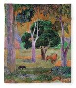 Dominican Landscape Fleece Blanket