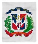 Dominican Republic Coat Of Arms Fleece Blanket