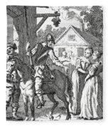 Don Quixote And Sancho Panza By William Fleece Blanket