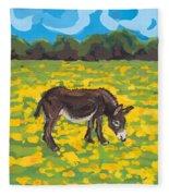 Donkey And Buttercup Field Fleece Blanket