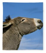 Donkey Demanding A Treat Fleece Blanket