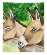 Donkey Duo Fleece Blanket