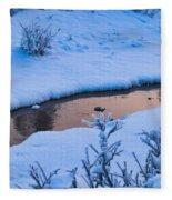 Donnelly Creek In Winter Fleece Blanket