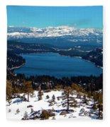 Donner Lake Sierra Nevadas Fleece Blanket