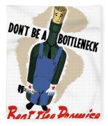 Don't Be A Bottleneck - Beat The Promise Fleece Blanket