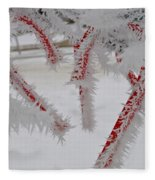 Don't Break My Heart-unique And Rare Formation Of Spiked Snow Icicles  Fleece Blanket
